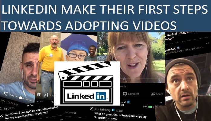 Linkedin Make Their First Steps Towards Adopting Videos