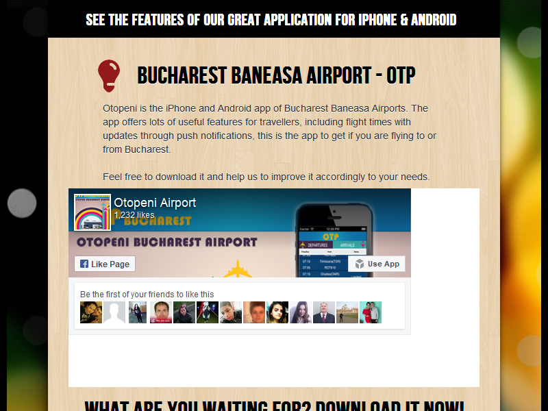 Otopeni Airport Mobile Application